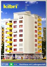 * Kibri scala N 7120   37120 Palazzo Moderno 7 piani con negozi Nuovo OVP