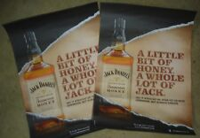 JACK DANIEL'S TENNESSEE HONEY A2 POSTERS x 2 BRAND NEW NEVER BEEN USED