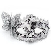 Masque Venitien Venise Plastique Halloween Fete Spectacle Carnaval ARGENT WT