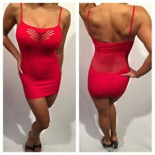 Connie's Exclusive Red Hot Tank Party Dress w/ Fishnet Detail  One Size  S/M