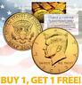 24K GOLD PLATED 2013 JFK Kennedy Half Dollar Coin w/Capsule * BUY 1 GET 1 * BOGO