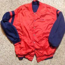Mens Vintage Adidas Retro Satin REVERSIBLE sz L JACKET SNAP SWINGSTER RARE 80s