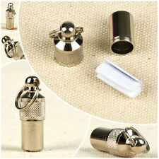 2 Pcs Pet ID Tag Container Cat Dog Charms Anti Lost Label Tube Identity Popular