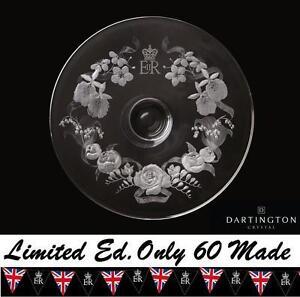Dartington Diamond Jubilee Queen Rare Royal Garland Centrepiece UK 15 of 60 NEW