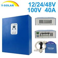 40A LCD MPPT Solar Charge Controller Battery Regulator Auto 12V/24V/48V Y-Solar