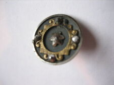 Vintage Small 9/16ths Inch Metal Button, with Cut Steels , Star Center - M76