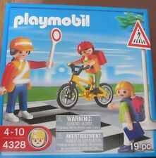 Playmobil Set 4328 - School Crossing Guard Child on Bike - New Sealed