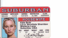 Nicollete Sheridan Desperate Housewives plastic collectorcard Drivers License