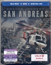 SAN ANDREAS *Target Exclusive Steelbook* (Blu Ray/DVD& DIGITAL) *BRAND NEW