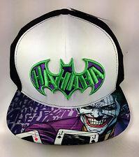 DC Comics Batman The Joker Snapback Flat Brimmed Baseball Cap/Hat NWT