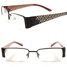 cfccf8af54 Semi Rimless Rx-Ready Contemporary Womens Black Rectangle Clear Lens Eye  Glasses