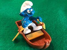 Vintage Schleich 1981 Peyo Rowboat Super Smurf