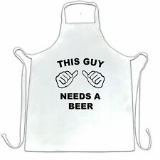 Novelty Chef's Apron This Guy Needs A Beer Slogan Drinking Stag Do Pub Banter