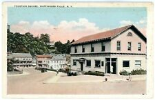 Wappingers Falls NY -OLD BANK BUILDING AT FOUNTAIN SQUARE- Postcard