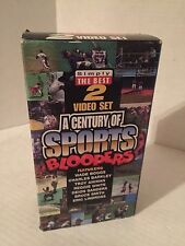 A CENTURY OF SPORTS BLOOPERS, SIMPLY THE BEST 2 VIDEO SET, VHS , 1998