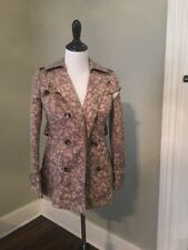 Daughters Of Liberation Anthropologie Leopard Trench- 2 Petite