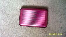 Credit card holder ,hard case aluminum pink
