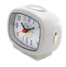 Londres 1872 Cuarzo Beep Alarma Reloj Blanco Brent fácil leer Dial Luz repetición, y