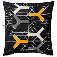 Set of 2 IKEA Bjornloka Figur Cushion cover on Black Cotton Pillow Cover 20x20""