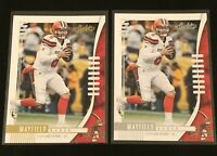 Baker Mayfield 2019 Absolute Football Lot Silver & Gold Yellow Parallel Browns