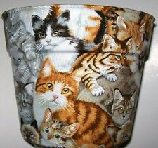 Cats Kittens Themed Planter Flowerpot Party Gift Basket Supply Container