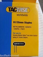 Tacwise TAC0746 91 étroit Couronne Staples 35 mm-Electric cloueurs Pack 1000