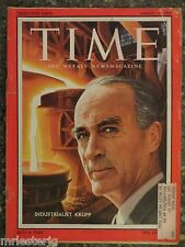 Time Magazine  August 19,1957   Germany's Alfried Krupp  GREAT VINTAGE ADS