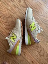 New Balance Women's 696 Classic Suede Running Shoe Sneakers Size 7 Neon /lavande