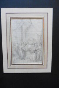 FRENCH NEOCLASSICAL SCHOOL CA. 1810 - HISTORICAL SCENE - PENCIL DRAWING