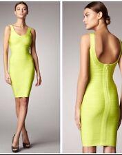 Herve Leger M Bright Lime Sydney Tank Dress-Medium