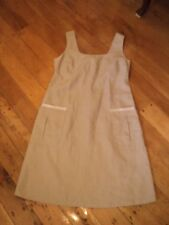 . max & co beige linen  shift dress worn once   utterly divine  14