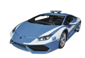 *RARE* LAMBORGHINI HURACAN LP610-4 POLICE Polizia CAR 1/18 MODEL CAR BLUE