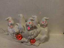 Vintage large Ceramic Ghost's And Pumpkins Light Up.
