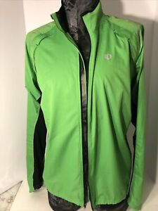 Pearl Izumi Elite Cycling Jacket Jersey Neon Green Large