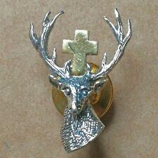 Badge de Chasse en Argent 925/1000 à l'effigie de Saint-Hubert