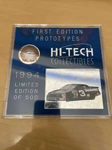 NASCAR 1994 Hi-Tech Racing Masters #3 DALE EARNHART Set LE 500 Silver Coin +