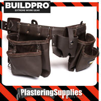 BuildPro Tool Belt Apron 13 Pocket Oil Tanned Leather BROWN LW31012