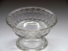 EAPG McKee Home Pattern with Diamond Bands Footed Sauce Dish c1880 Antique