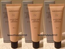 NUTRIMETICS NC SHEER TINT MAKE-UP 30ML X 3 SPF15 RRP $78 SHADE LIGHT OR MEDIUM