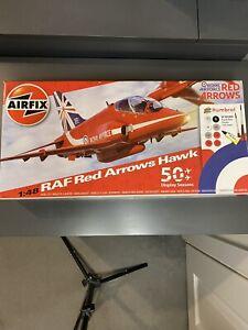 RARE Airfix RAF Red Arrows Hawk 1:48 Model Kit A50031B - Complete