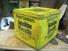 KRISPY cracker STORE tin sunshine  CAN BICUITS LOOSE WILES MINNEAPOLIS MN VTG