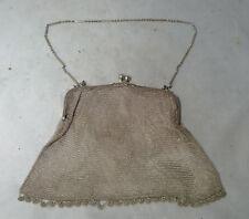 ART DECO IN ARGENTO SMALTATO & Marcasite Borsetta T K CO London 1926 99g A635617