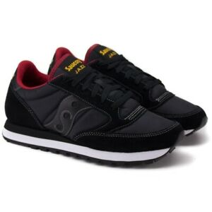 Scarpe uomo Saucony Jazz Original  nero rosso sneakers sportivo shoes stringata