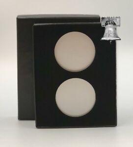 Air-tite Coin Holder Black Velvet Box Display Silver Insert Model H Storage Case