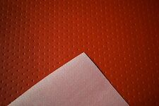 Fire Red Diamond Embossed Auto Pro Vinyl Fabric Automotive Seat Cover BTY 54
