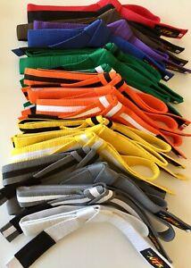 Hook/loop NEVER TIE BELT Brazilian Jiu Jitsu BJJ Judo Karate CHILD sizes NTB