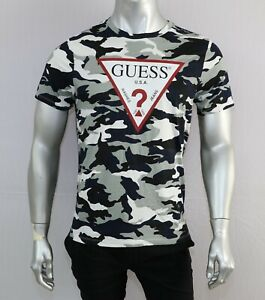Guess Mens Printed T Shirts - CAMOUFLAGE -SIZES - S,M,L,XL& XXL- NEW