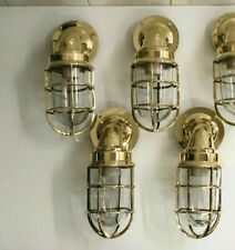 Nautical marine ship american Brass new passageway light lot of 4 pieces
