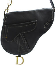 Christian DIOR saddle Messenger bag shoulder sac a bandouliere sac intemporel Black