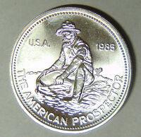 1985 Engelhard Prospector 1 oz .999 Fine Silver Round Eagle Reverse (7518)